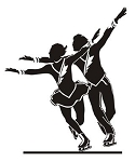 Figure Skater Pair v5 Decal Sticker